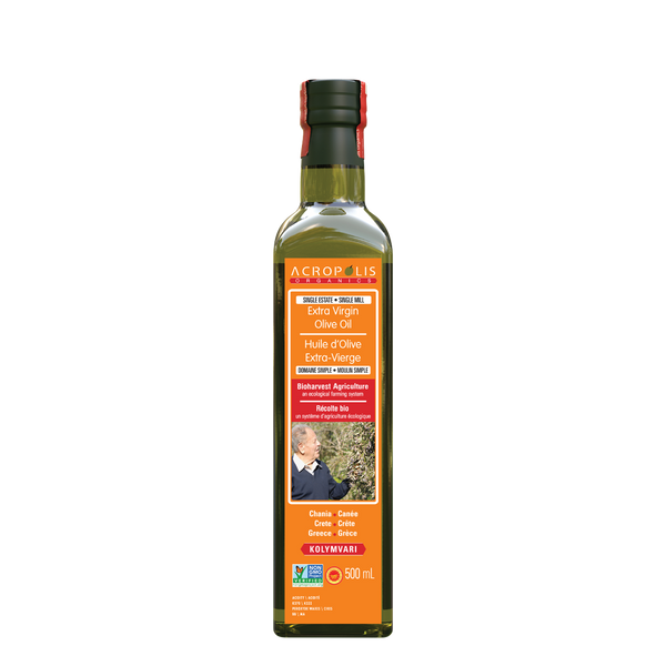Acropolis Organics Bio-Harvest Farming Extra Virgin Olive Oil, 500 mL