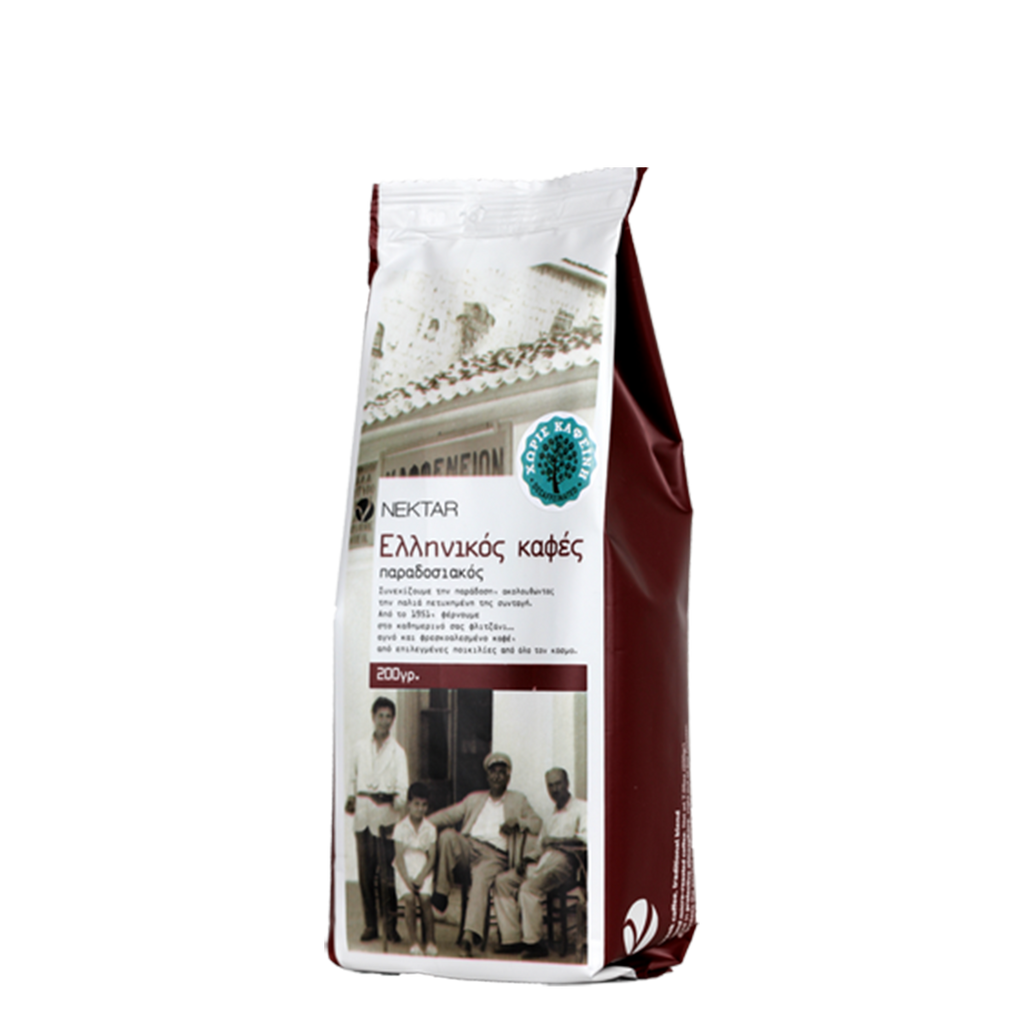 Nektar Traditional Blend Greek Decaf Coffee - FarmOrganica