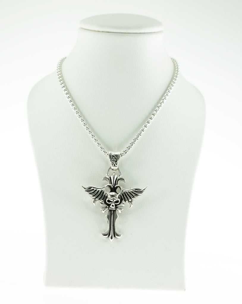 Skull Cross with Wings