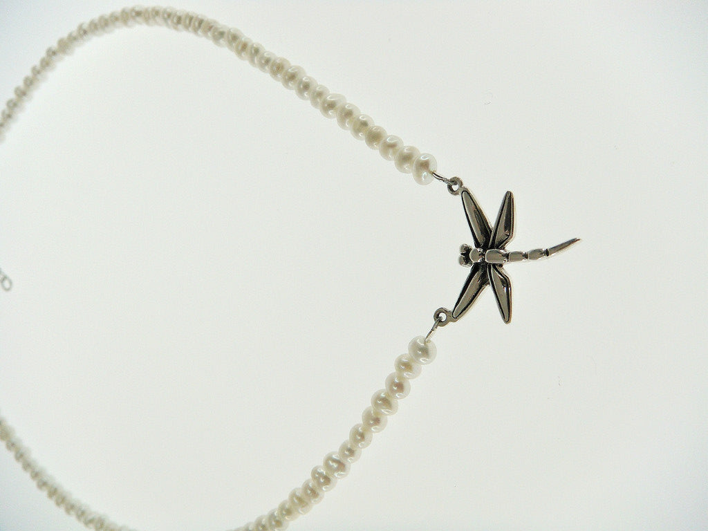 Dragonfly Freshwater Pearl Necklace