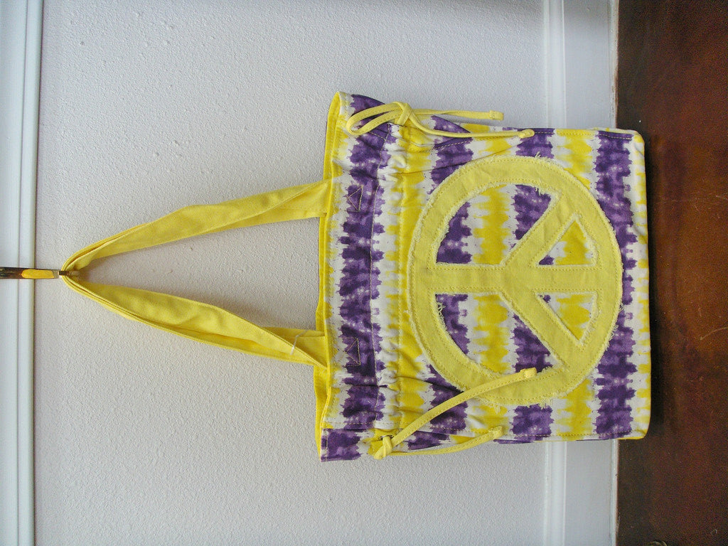 Purple & Gold Peace Tote