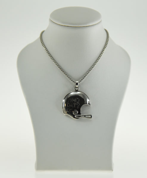 Who Dat Saints Helmet pendant