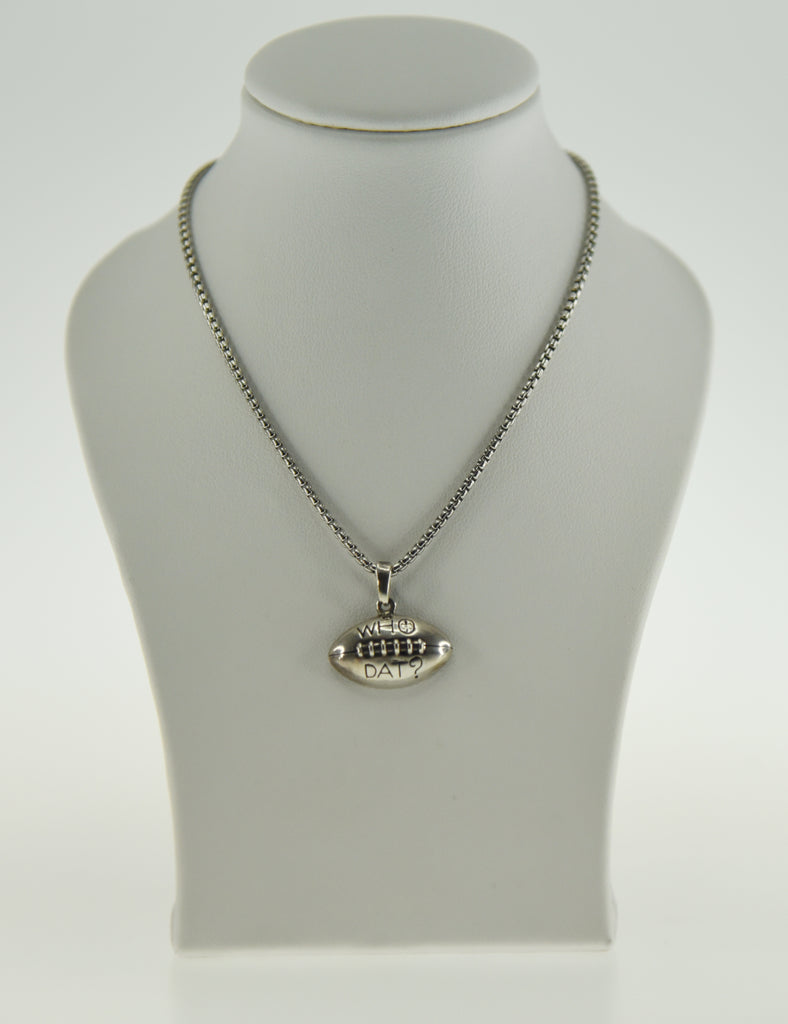 Who Dat Football Pendant