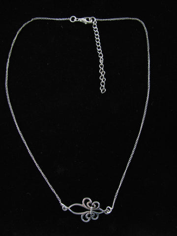 Lauren sideways FDL necklace