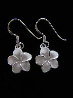 Frosted Plumeria small dangles