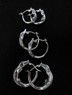 Gator Hoop Earrings