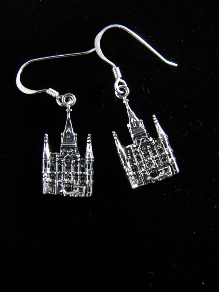 St. Louis Cathedral dangle earrings