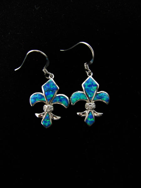Blue Opal Earrings