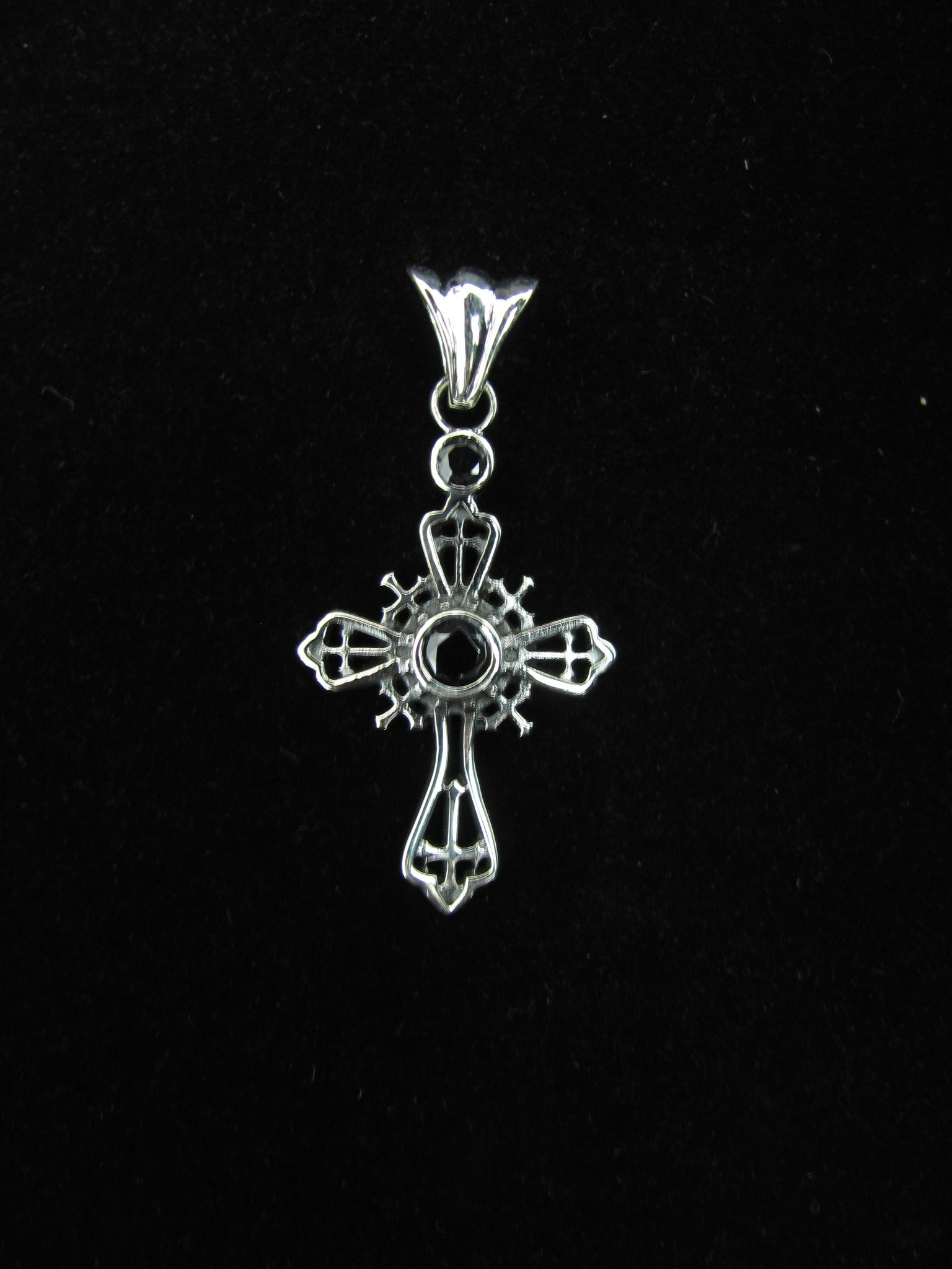 Small Jeweled Cross w/circle