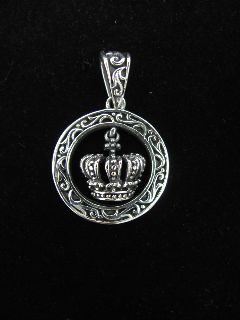 Hanging crown pendant