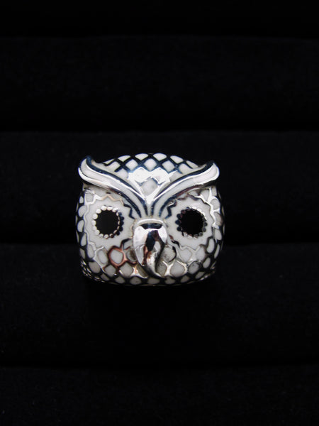White Owl Ring