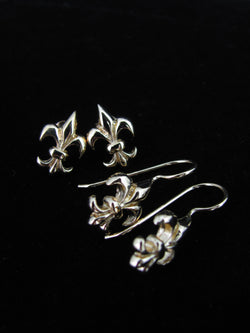 Vermeil Fleur de lis earrings