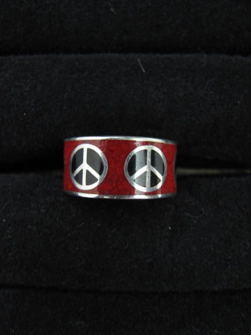Colored Peace ring