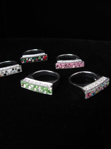 Candy Collection Rectangle ring