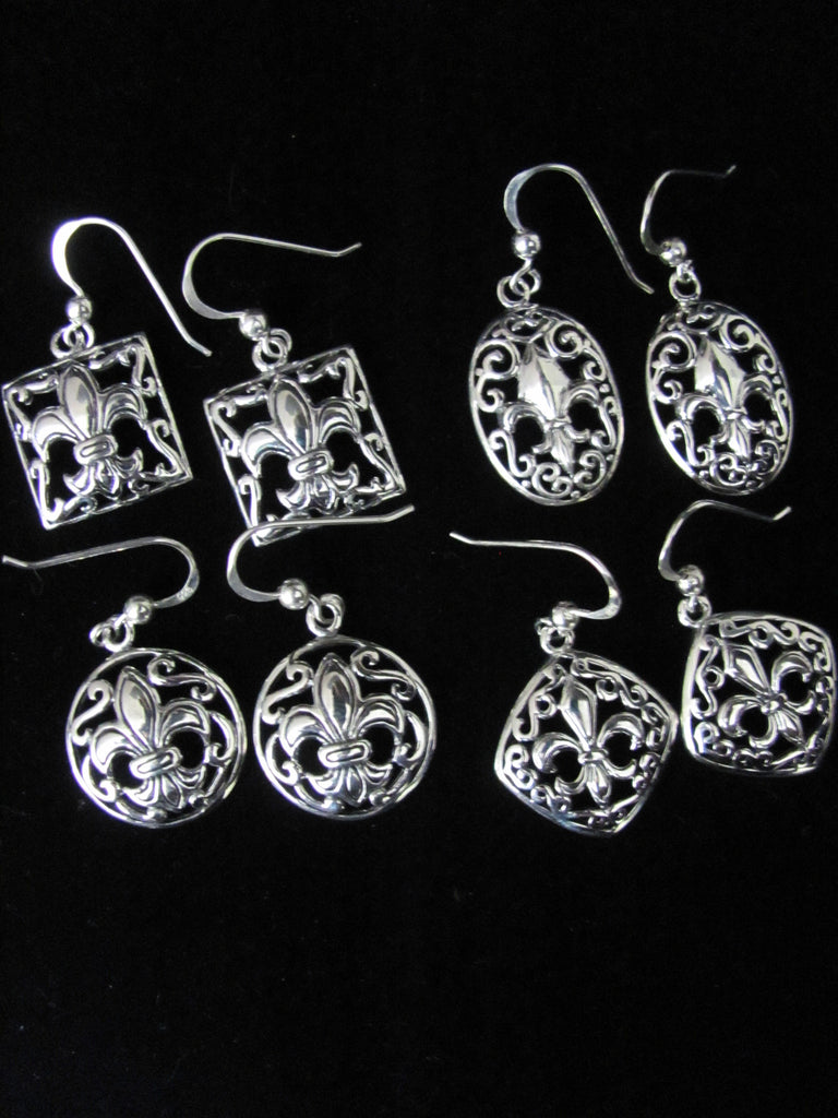 Ironworks Fleur De Lis earrings