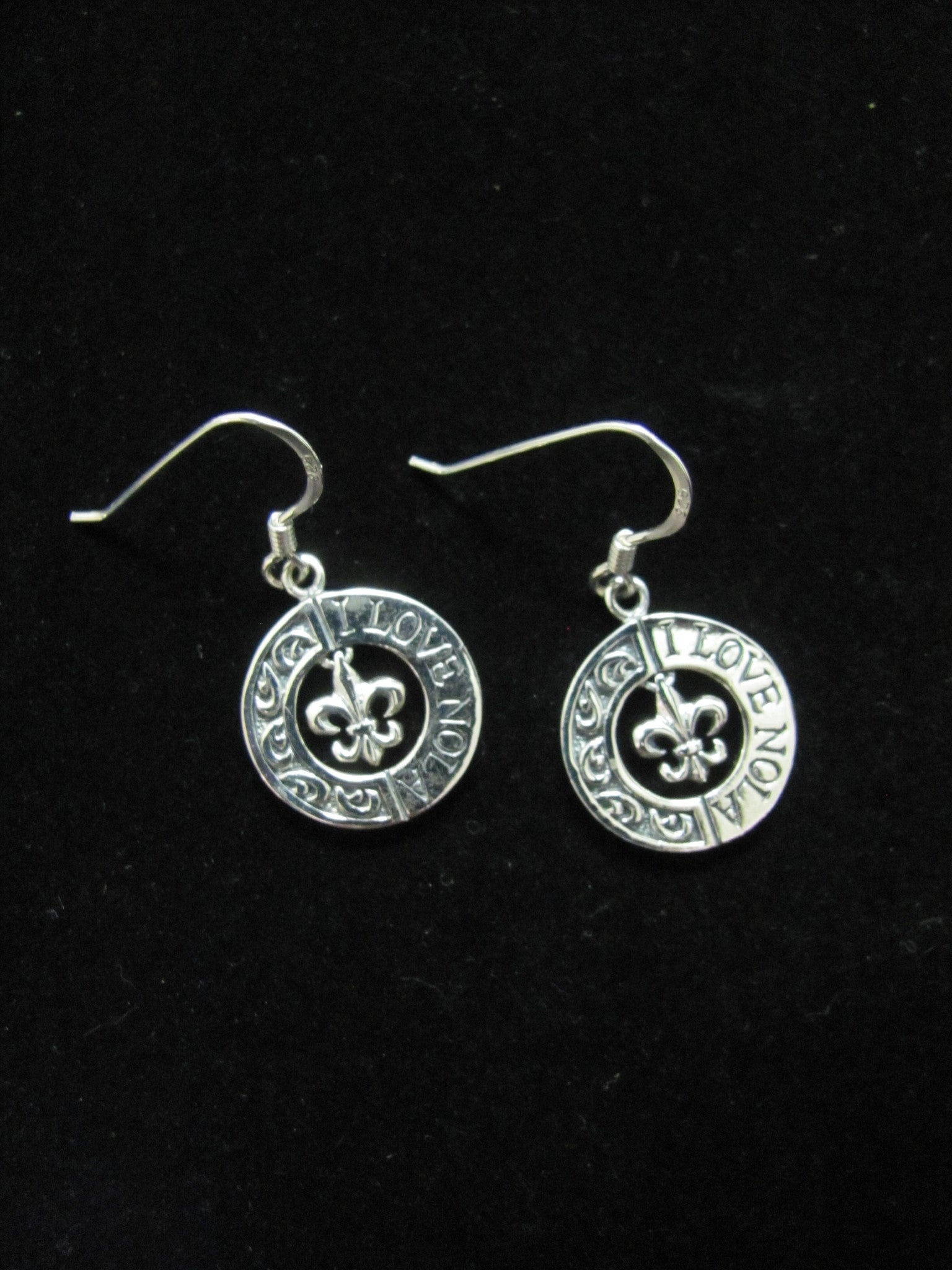 """I LOVE NOLA"" earrings"