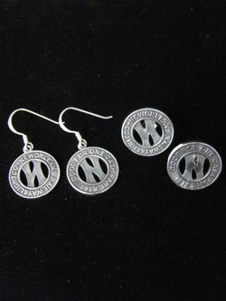 New Orleans Streetcar Token Earrings