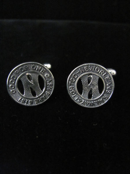 New Orleans Streetcar Token Cufflinks