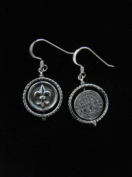 Babin dangle earrings (Fleur de Lis/WaterMeter)