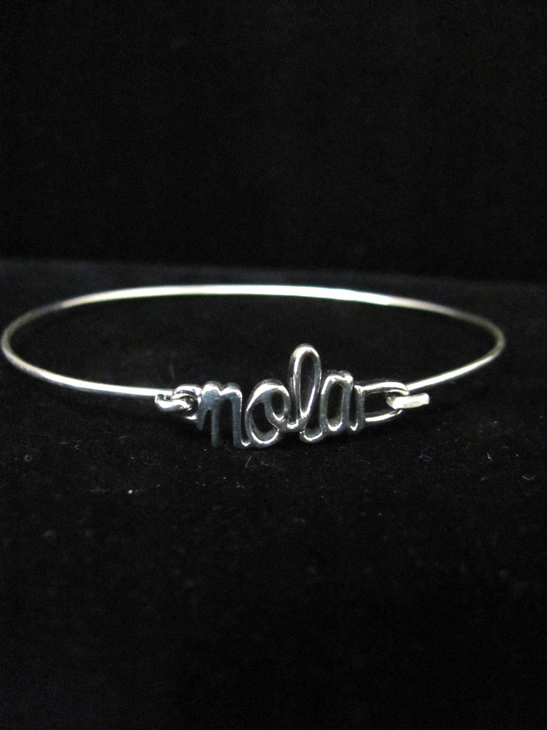 Nola Script Bangle