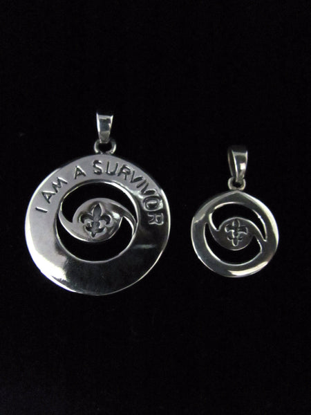 """I Am A Survivor"" Hurricane Pendant"