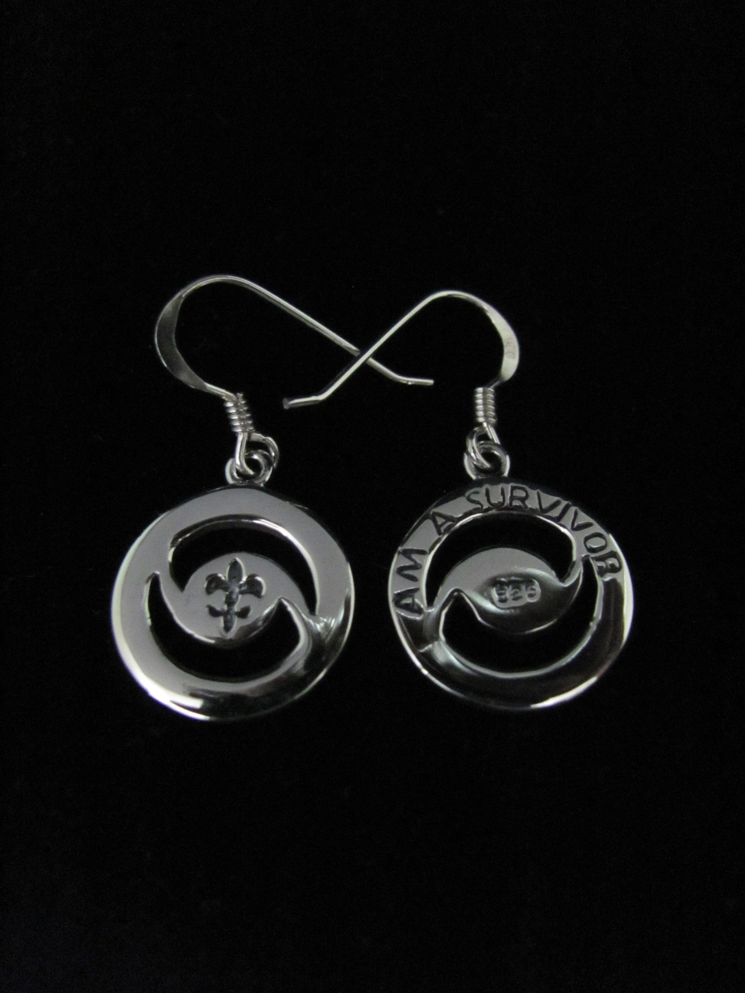 """I Am A Survivor"" Hurricane Earrings"