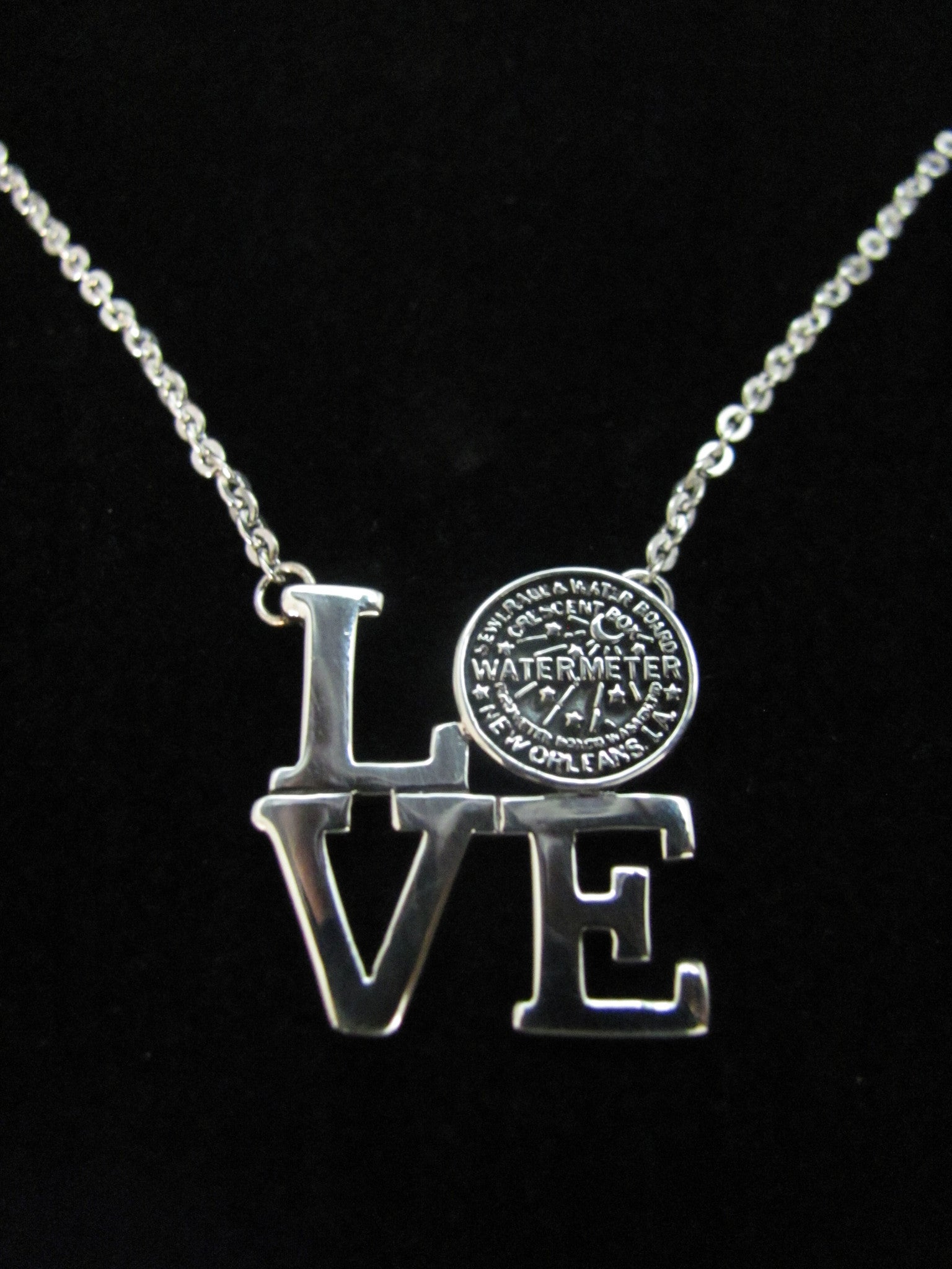 "Water Meter ""Love"" Necklace"