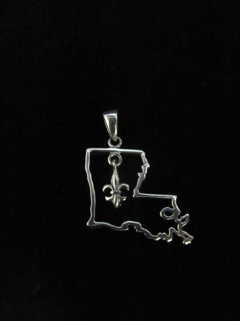 Dangle Fleur de Lis Louisiana Pendant