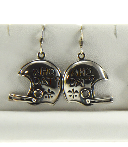 Who Dat Saints Helmet Earrings