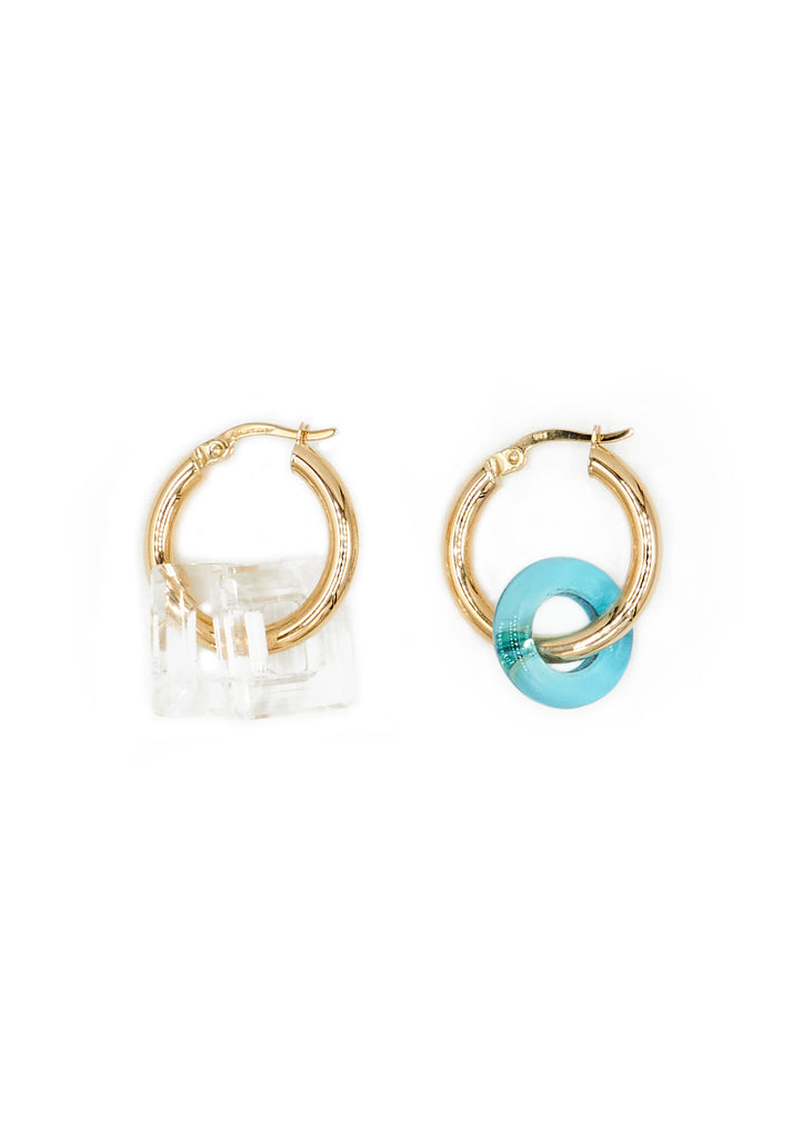 Gold Hoops 00, Azure