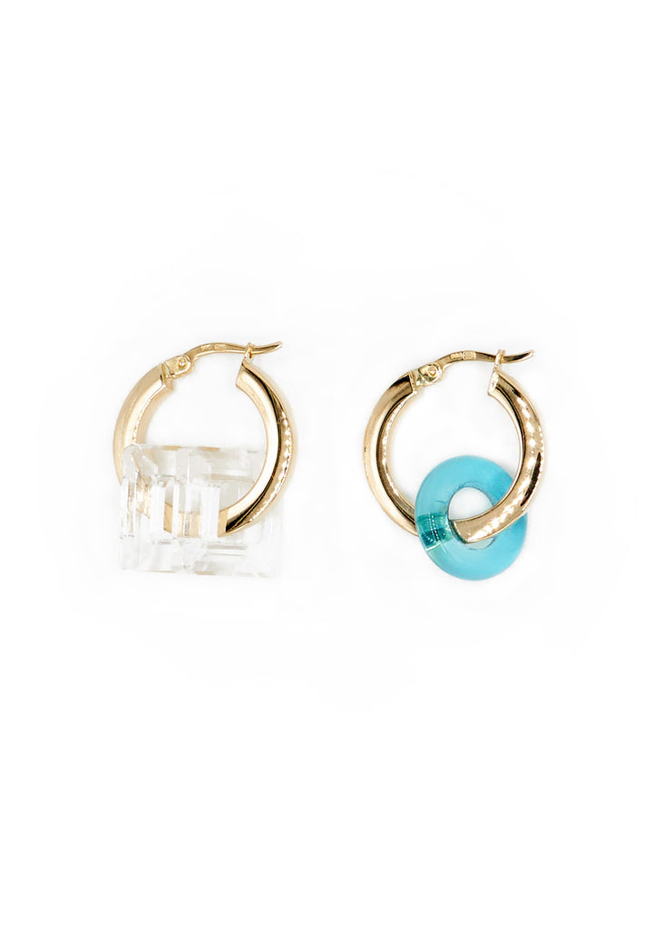 Gold Hoops 11, Azure