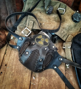 Radioactive Leather Face Mask