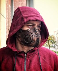 Biohazard Leather Face Mask