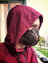 Load image into Gallery viewer, Biohazard Leather Face Mask