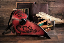 Load image into Gallery viewer, Plague Doctor Mask Decorated.