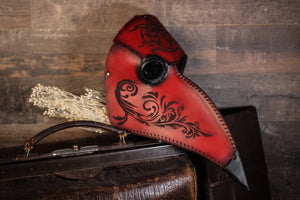 Plague Doctor Mask Decorated.