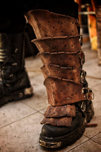 Dragon Scales Leather Greaves