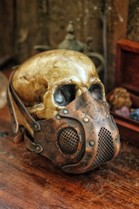 Rage Leather Face Mask
