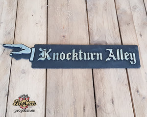 Knockturn Alley Wood Sign.