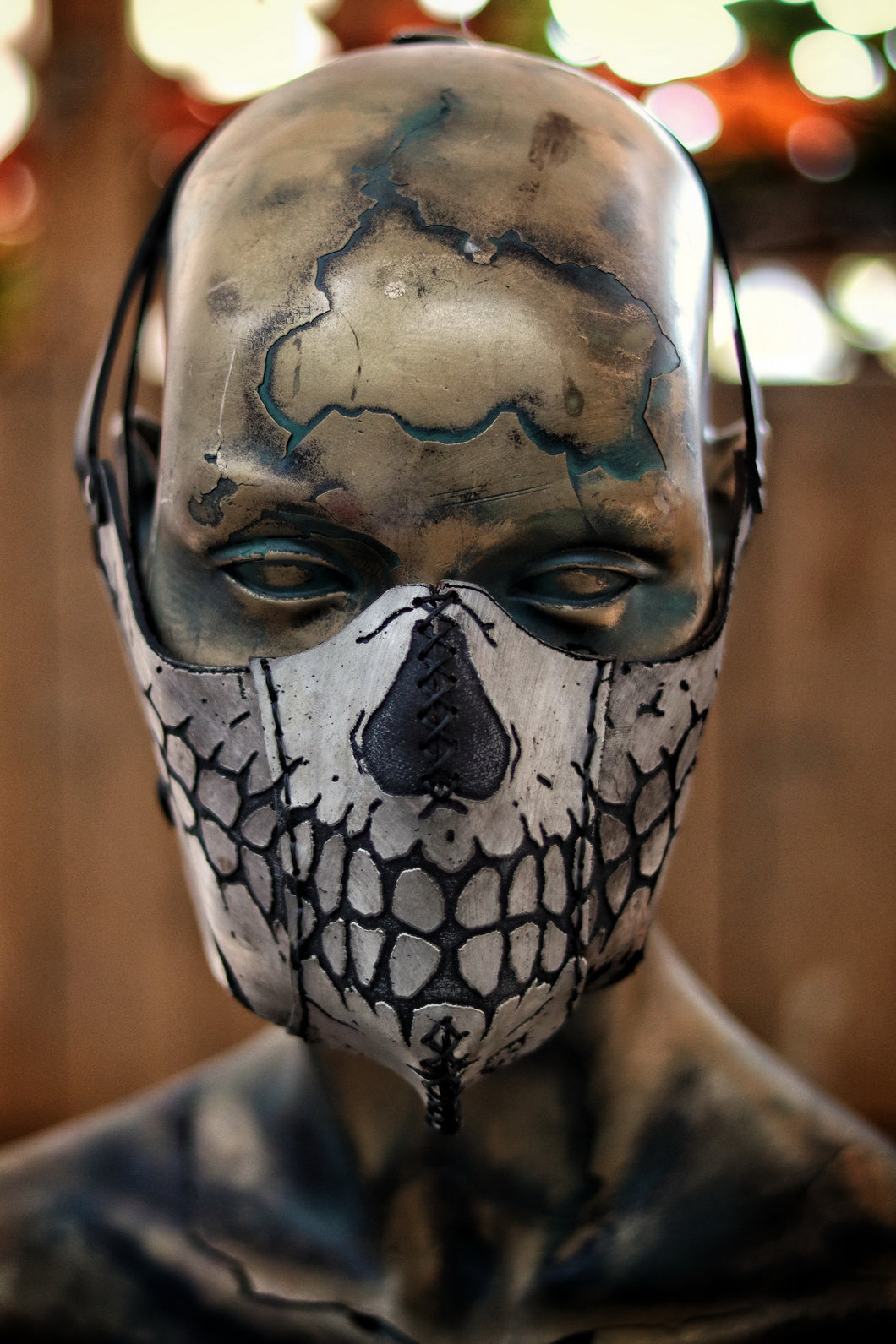 Leather Skull Face Mask