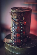 Load image into Gallery viewer, Post Apocalyptic Steel Bracers