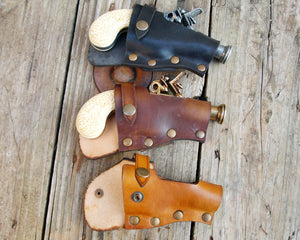 Flintlock Pistol leather Holster.