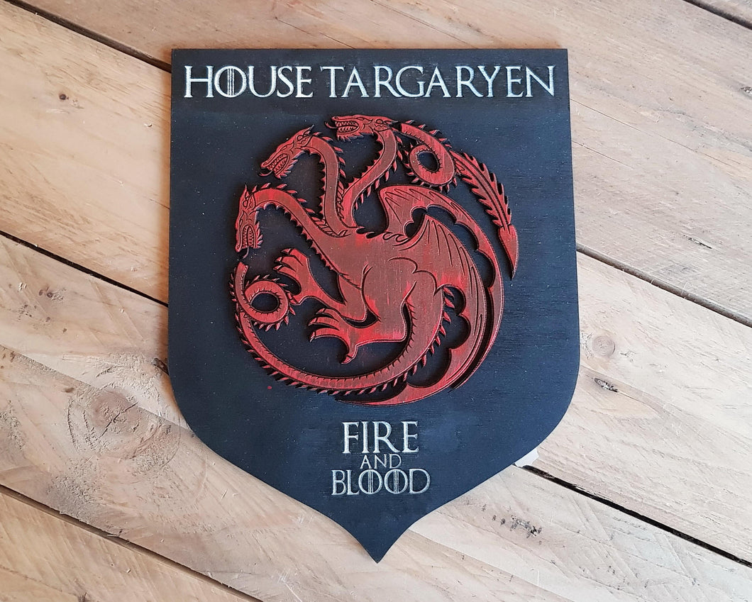 Targaryen House, wood sign.