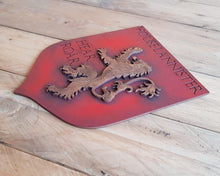 Load image into Gallery viewer, Lannister House, Banner wood sign of Game of Thrones.