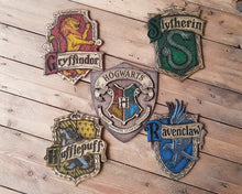 Load image into Gallery viewer, Slytherin Wood Sign.