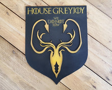Load image into Gallery viewer, Greyjoy House, sigil of Game of Thrones. Wood Sign.