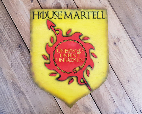Martell House, sigil of Game of Thrones. Wood Sign.