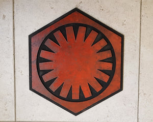 STAR WARS First Order logo. Wood Sign.