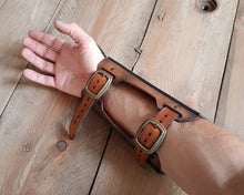 Load image into Gallery viewer, Thorin Dwarf Leather Bracer.