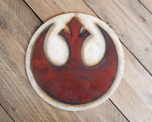STAR WARS Rebel Alliance logo. Wood Sign.